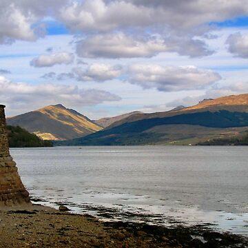 Evening at Loch Fyne by gingerdelight