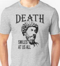 Death Smiles At Us All   Marcus Aurelius - Father Of Stoicism Slim Fit T-Shirt