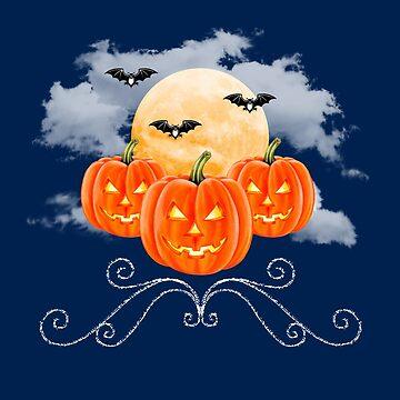Moonlit Pumpkins by Colette-vd-Wal