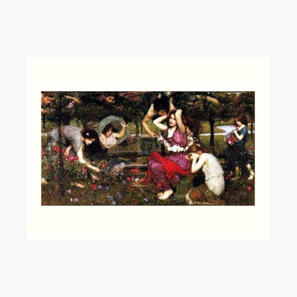 Flora and the Zephyrs - John William Waterhouse Art Print