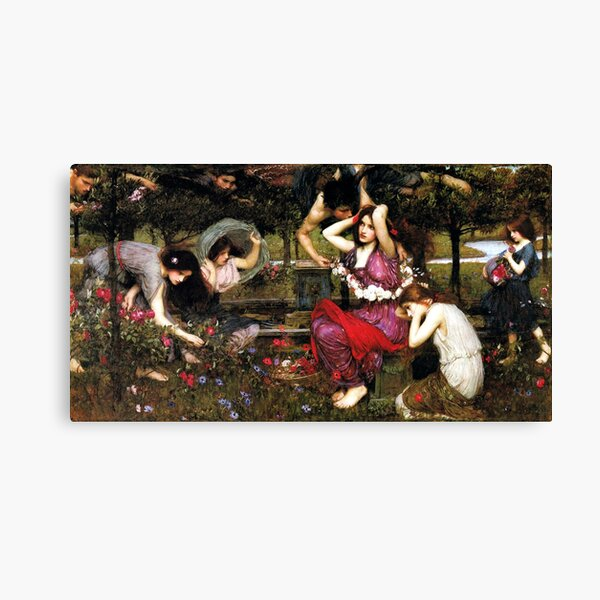 Flora and the Zephyrs - John William Waterhouse Canvas Print