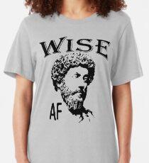 Wise AF   Marcus Aurelius - Father Of Stoicism Slim Fit T-Shirt