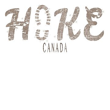 Hike Canada outdoors footprint design by jhussar