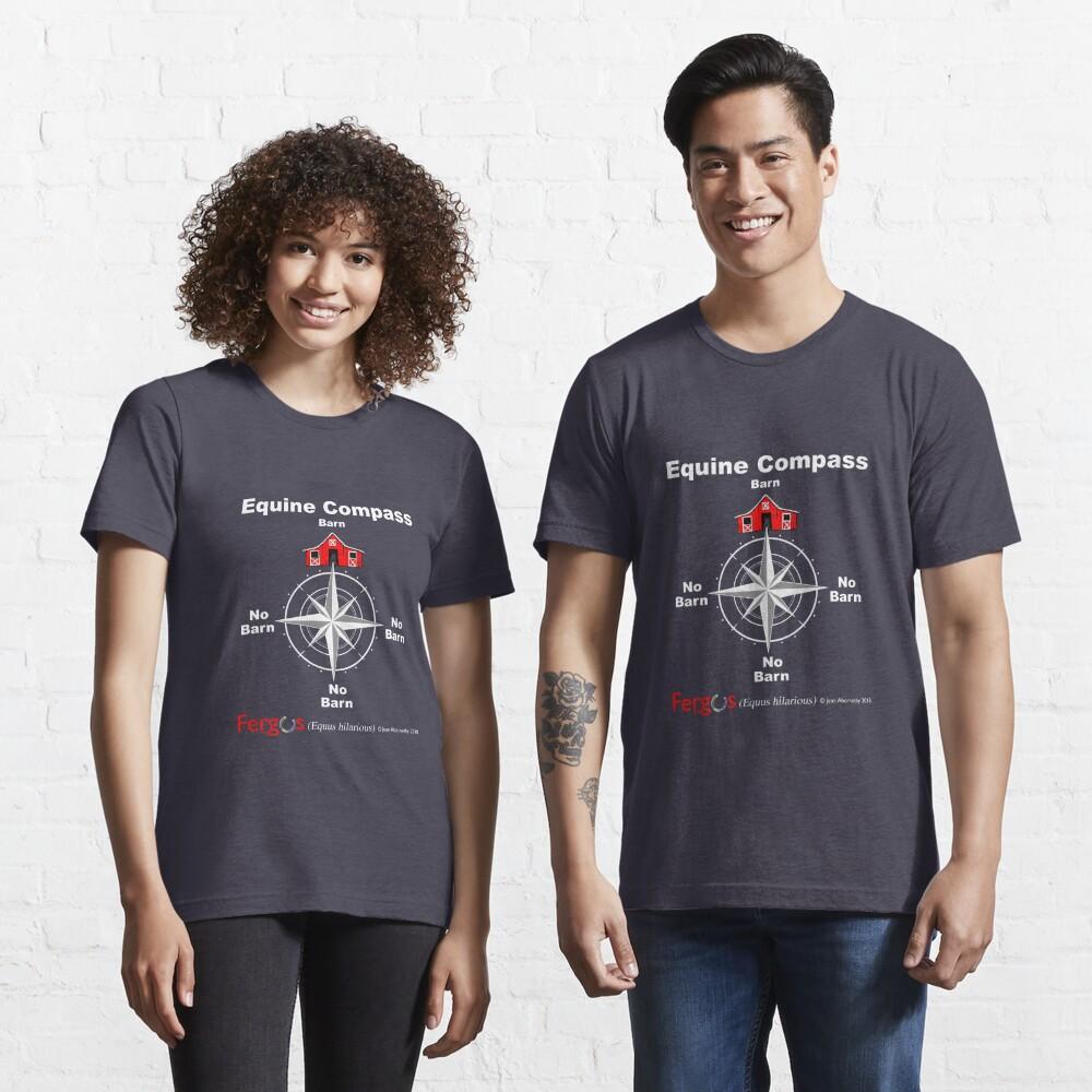 Fergus the Horse: Equine Compass (white) Essential T-Shirt