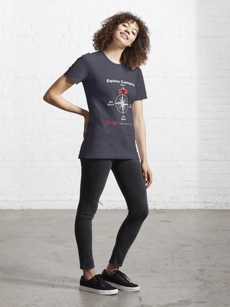 Alternate view of Fergus the Horse: Equine Compass (white) Essential T-Shirt