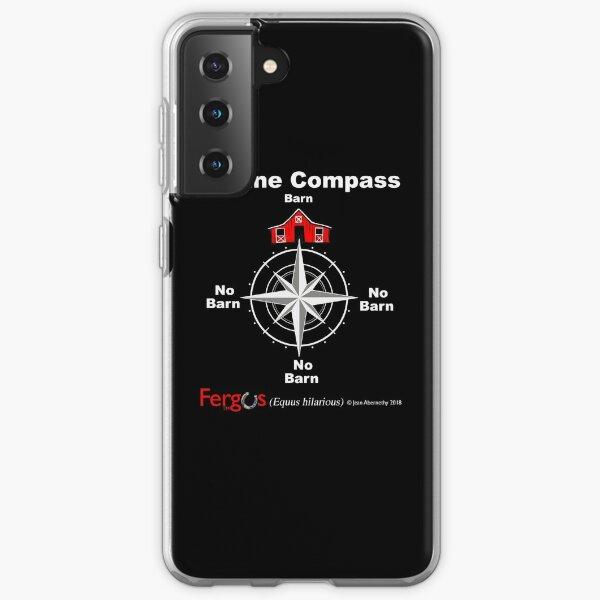 Fergus the Horse: Equine Compass (white) Samsung Galaxy Soft Case