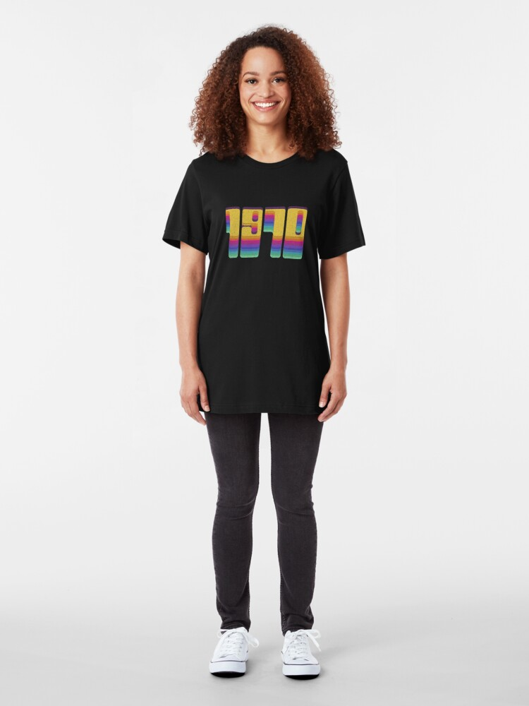 Alternate view of Vintage 1970 Seventies Cool Retro Style Clothing Slim Fit T-Shirt