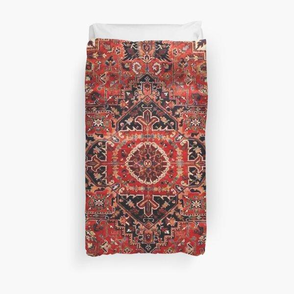 Heriz Antique Vintage Boho Persian Carpet Print Duvet Cover