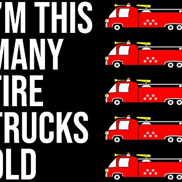 5 Year Old Firefighter Kid Fire Trucks Old T-shirt by zcecmza