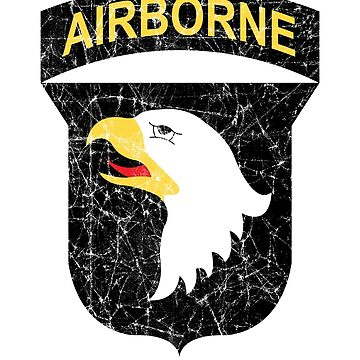 101st Airborne Screaming Eagles Distressed by 5thcolumn