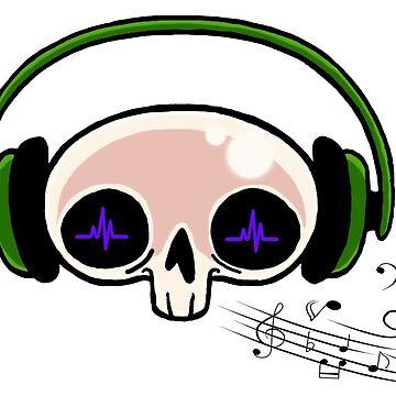 Skull listening music by F0rt3ck