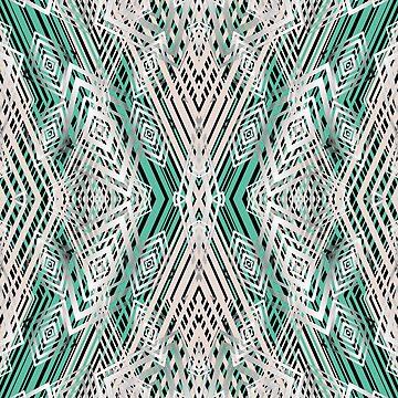 Geometric pattern, green, gray by fuzzyfox