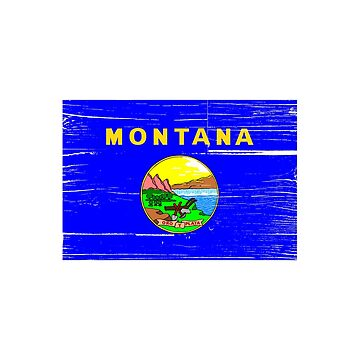 Montana Flag distressed by RBBeachDesigns