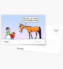 "Fergus the Horse: ""Lumps of Coal"" Card Postcards"