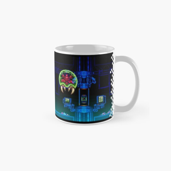 Super Nintendo Super Metroid Classic Retro 16bit Title Screen Mug Classic Mug
