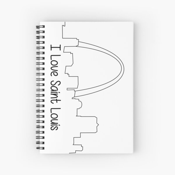 I Love Saint Louis Spiral Notebook