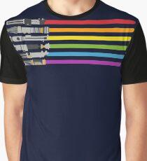 raibow color Graphic T-Shirt