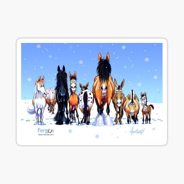 Fergus the Horse: Winter Lineup Card Sticker