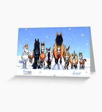 Fergus the Horse: Winter Lineup Card Greeting Card