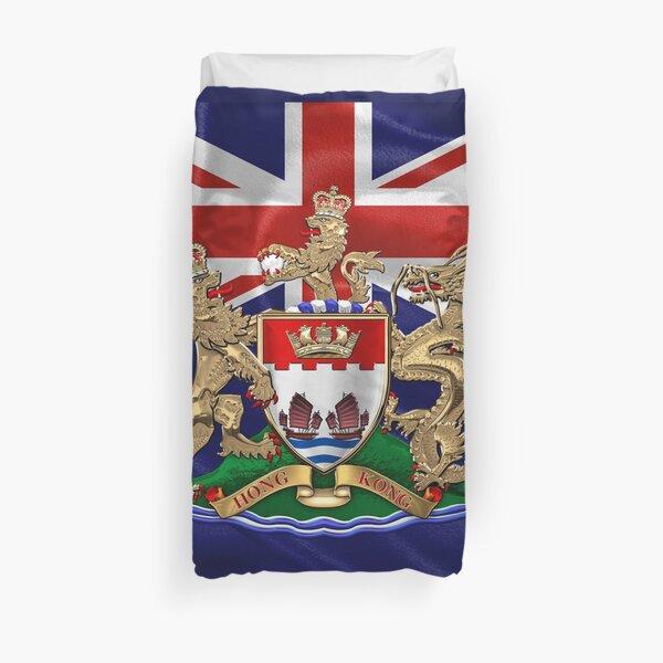 Hong Kong - 1959-1997 Coat of Arms over Flag  Duvet Cover