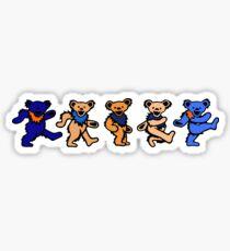 Orange and Blue greatful dead bears Sticker
