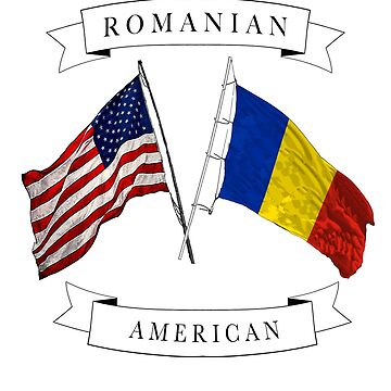 Romanian American ancestry flags design by jhussar