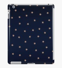 Blue & Rose Gold Pink Stars iPad Case/Skin