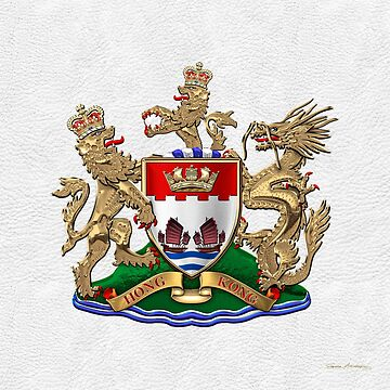 Hong Kong - 1959-1997 Coat of Arms over White Leather  by Captain7