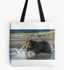 Grizzly with a Bit of Fish Tote Bag