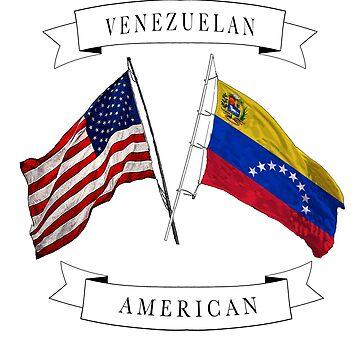 Venezuelan American ancestry flags design by jhussar
