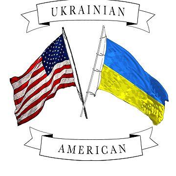 Ukrainian American flag design  by jhussar