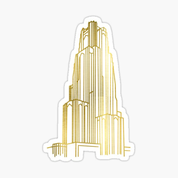 Gold Cathedral of Learning Sticker