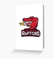 Chilli Raptors Greeting Card