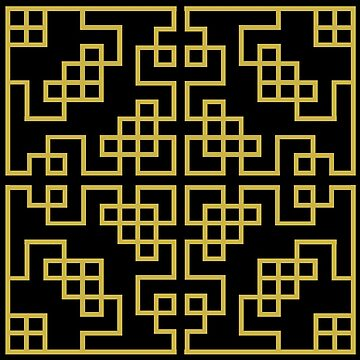 Black Gold Chinese Ornament Pattern by ernstc