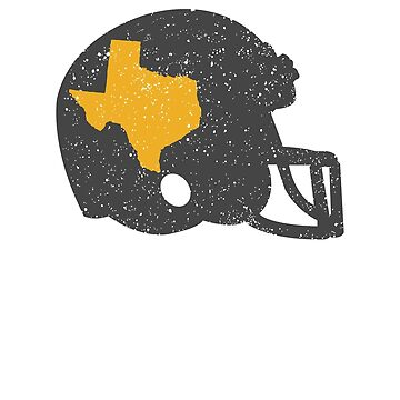 State of Shape of Texas Football Helmet by ZippyThread