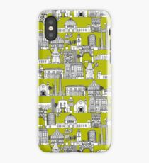 Los Angeles toile lime iPhone Case