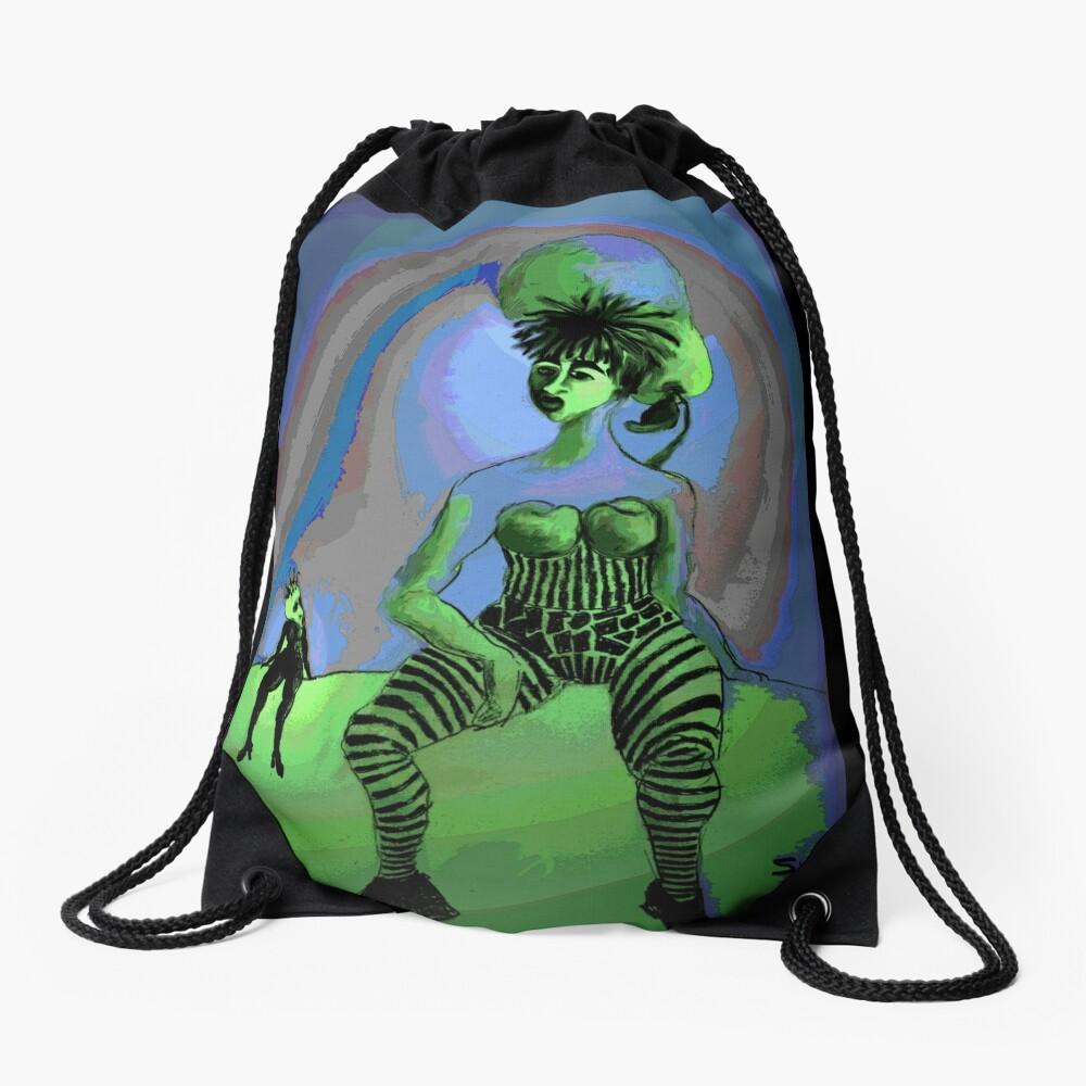 Frumans, a mini fantasy Drawstring Bag
