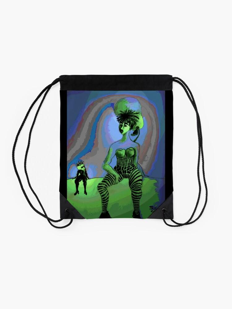 Alternate view of Frumans, a mini fantasy Drawstring Bag