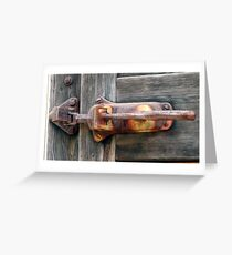 Latch Greeting Card