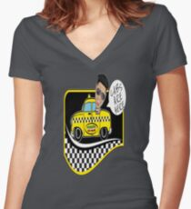 CABS HERE Women's Fitted V-Neck T-Shirt