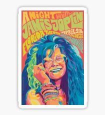 a night with janis joplin Sticker