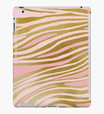 Gold Pink Dancing Lines iPad Case/Skin