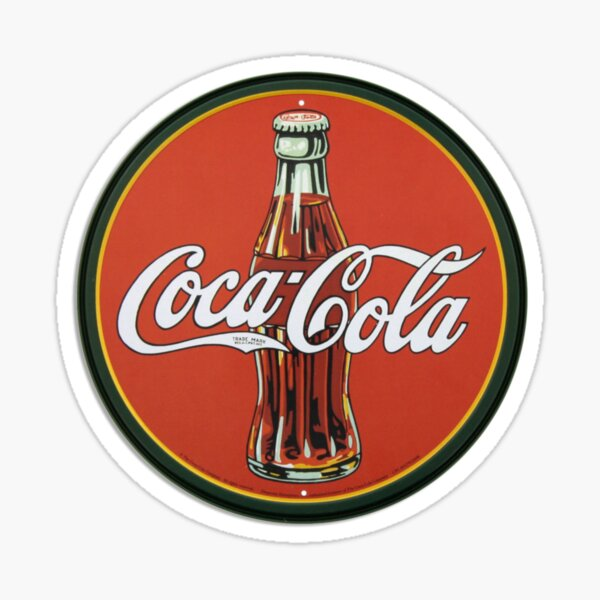 Logo Coca-Cola Vintage Sticker