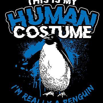 Penguin Human Shell by GeschenkIdee