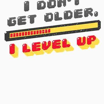 I Don't Get Older I Level Up Funny Video Games Gamer Geek Gifts by Tigarlily