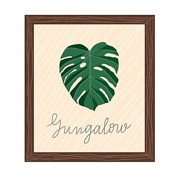 Monstera Jungalow poster by IvchenkoEvgenia