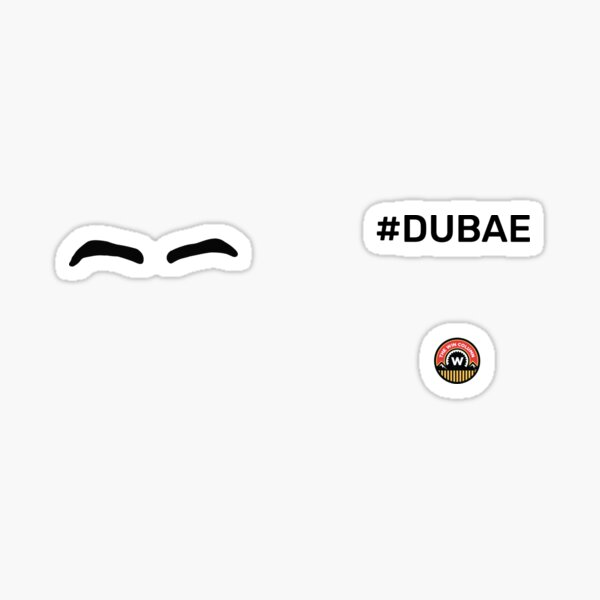 Dillon Dube Eyebrows Mug Sticker