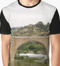 Bridge Reflection in Toledo, Spain Graphic T-Shirt
