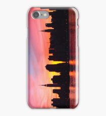 New York City Skyline in Pink Sunset iPhone Case/Skin