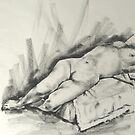 Nudes in charcoal by Mick Kupresanin